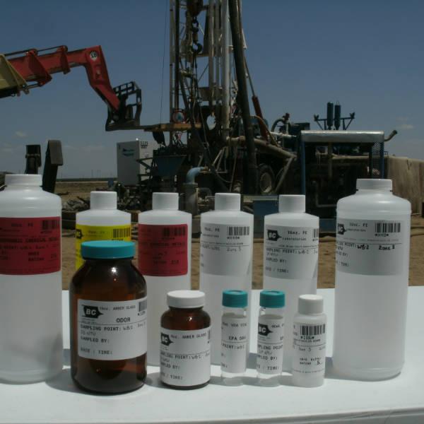Water test bottles